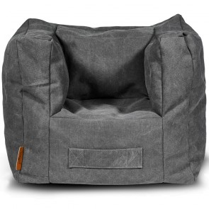Jollein Fauteuiltje Beanbag Stonewashed Canvas Grey