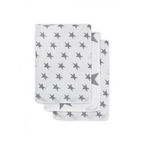 Jollein Hydrofiel Washandje Little Star Anthracite (3pack)