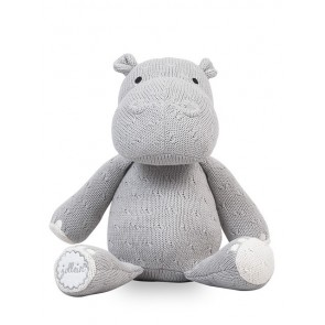 Jollein Knuffel Hippo Soft Knit Light Grey