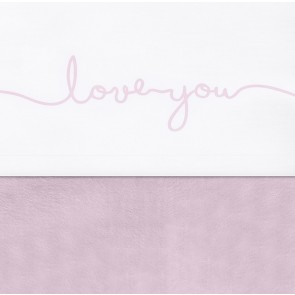 Jollein Laken 120x150cm Love You Vintage Pink