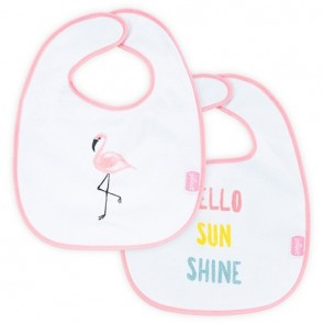 Jollein Slabbetje Waterproof Flamingo (2pack)