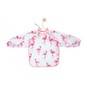 Jollein Slabbetje Waterproof Met Mouw Flamingo (2pack)