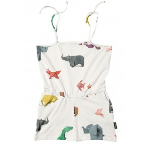 Snurk Kids Playsuit Paper Zoo