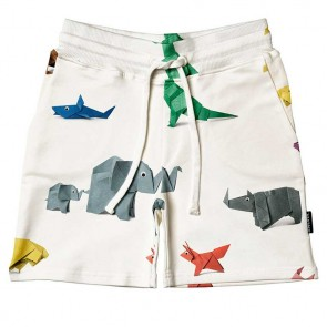 Snurk Kids Shorts Paper Zoo