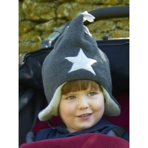 Buggy Snuggle Kindermuts Charcoal - Silver Star S