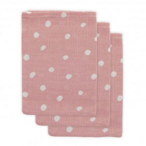 Little Lemonade Hydrofiele Washandjes Dots Pink (3 stuks)