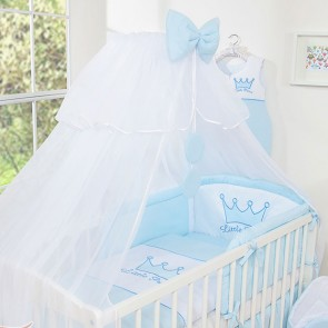 3-Delig Bedset Little Princess Voile Blauw