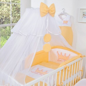 3-Delig Bedset Little Princess Voile Perzik