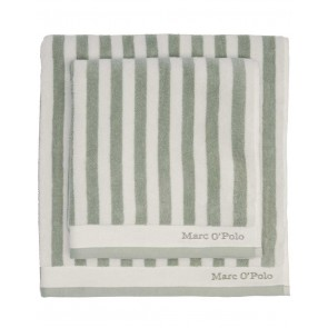 Marc O'Polo Badgoed Classic Stripe Green & Off White