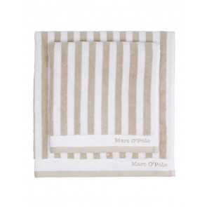Marc O'Polo Badgoed Classic Stripe Oatmeal & White