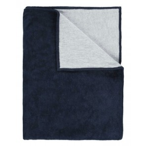 Marc O'Polo Fleece Plaid Classic Navy & Silver 150 x 200 cm
