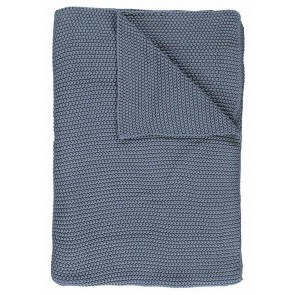 Marc O'Polo Plaid Nordic Knit Smoke Blue