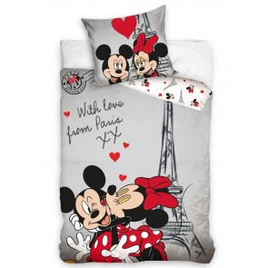 Minnie en Mickey Mouse Dekbed With Love