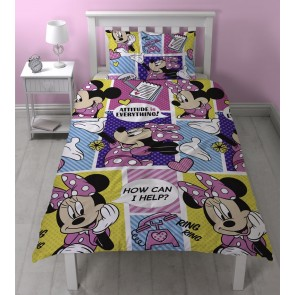 Minnie Mouse Dekbedovertrek Office New!