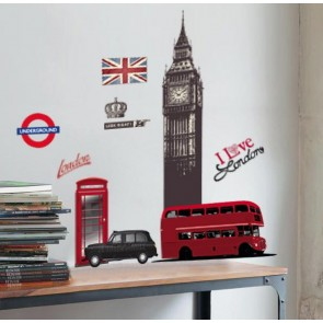 Muurstickers Vinyl London 130 cm