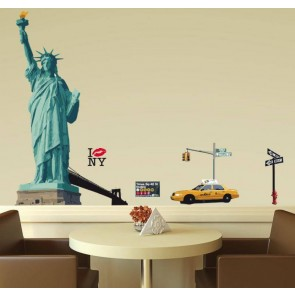 Muurstickers Vinyl New York 130 cm