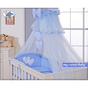 3-delig Bedset Two Hearts Voile Blauw