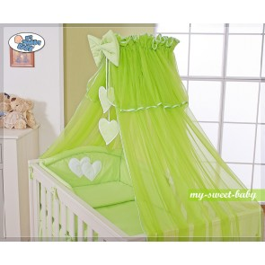 3-Delig Bedset Two Hearts Voile Groen