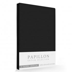 Satijn Slopen Papillon Zwart (2 stuks)