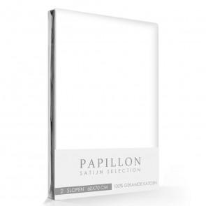Satijn Slopen Papillon Wit (2 stuks)
