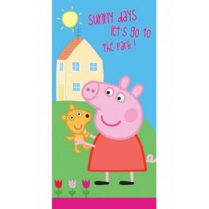 Peppa Pig Sunny Strandlaken 70 x 140 cm