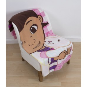 Doc McStuffins Cuddle Fleece Plaid