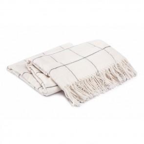 Damai Plaid Frame Wool White
