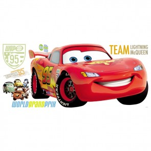 Cars Muurstickers Lightning McQueen (RoomMates)