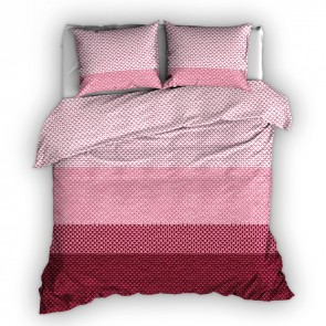 Satin d'Or Dekbedovertrek Ibisco Rood Rose