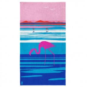 Seahorse Strandlaken Panorama Blue 100x180cm