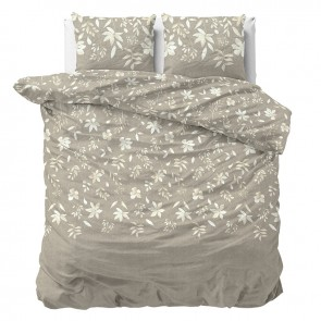 Sleeptime Dekbedovertrek English Flower Taupe