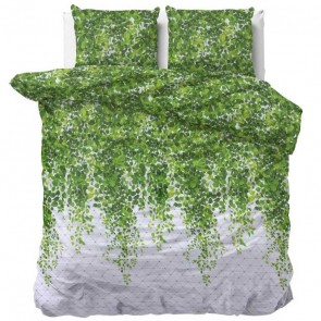 Sleeptime Dekbedovertrek Botanic Wave Green