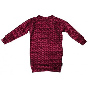 Snurk Sweater Woman Dress Twirre Burgundy Red