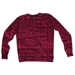 Snurk Sweater Man Twirre Burgundy Red