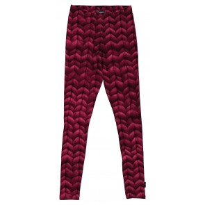 Snurk Legging Woman Twirre Burgundy Red