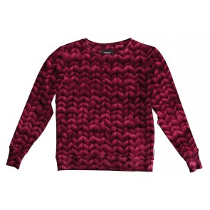 Snurk Sweater Woman Twirre Burgundy Red