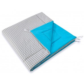 Speelkleed Tipi Tent Checkered Grey-Blue