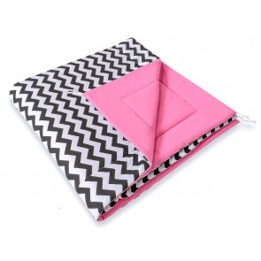 Speelkleed Tipi Tent Chevron Black-Pink