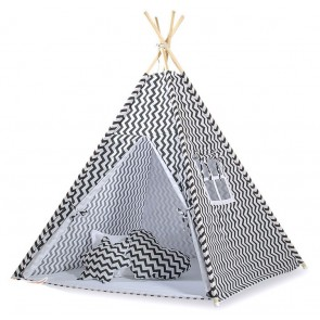 Tipi Speeltent Chevron Black