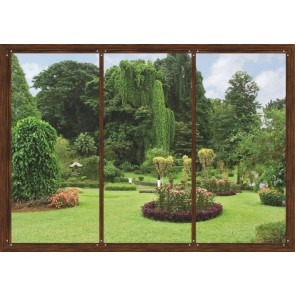 Window In Garden Fotobehang 4D (AG Design)