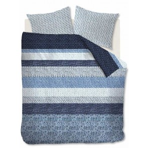 Beddinghouse Dekbedovertrek Flanel Valdermar Blue