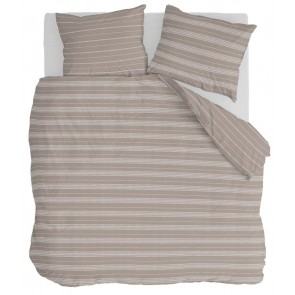 Walra Dekbedovertrek Head Over Lines Taupe