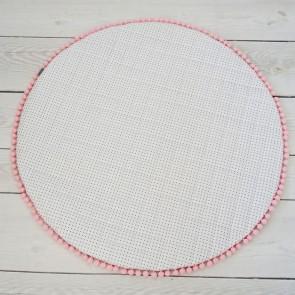 Wit Speelkleed met Grijze Dots en Roze Pompoentjes Dolly