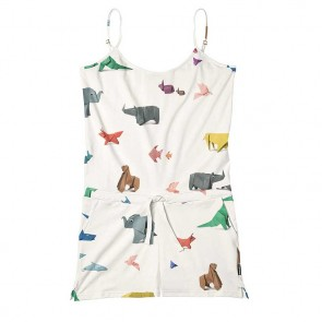 Snurk Playsuit Paper Zoo