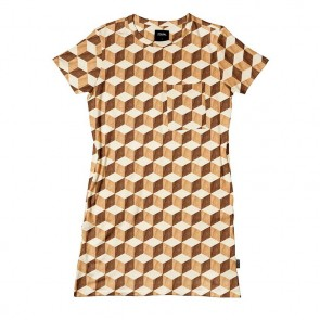 Snurk T-shirt Dress Wooden Cubes