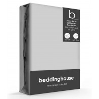 Beddinghouse Splittopper Hoeslaken Jersey-Lycra Lightgrey