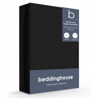 Beddinghouse Jersey-Lycra Topper Hoeslaken Black