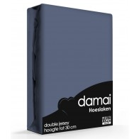 Damai Multiform Double Jersey Hoeslaken Dark Blue