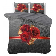 Dreamhouse Dekbedovertrek Roses Love Black