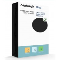 Nightlife Double Jersey Topper hoeslaken Black